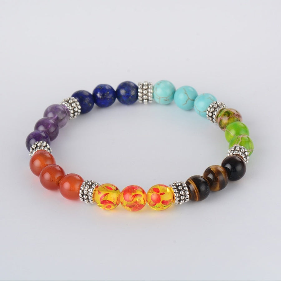 7 Chakra Healing Crystals Bracelet- Buy 1 Get 1 Free Limited Time Offer