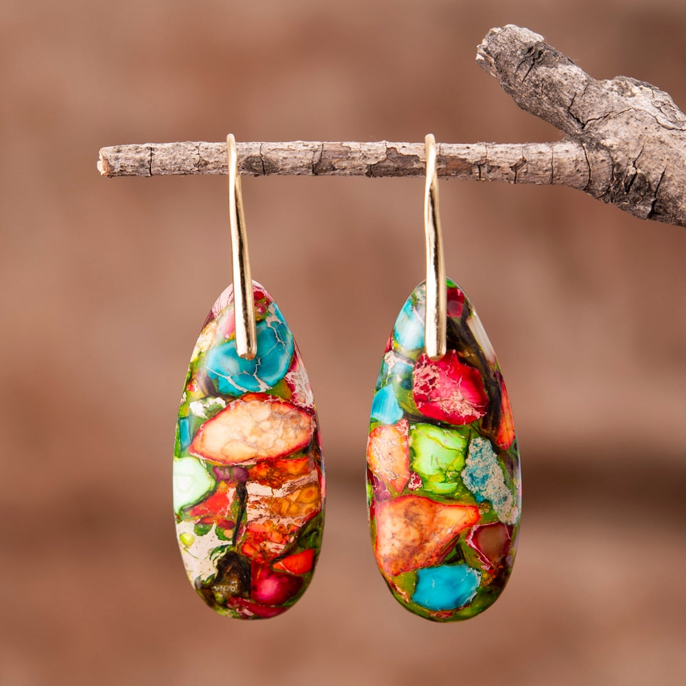 Bohemian Jasper Drop Earrings