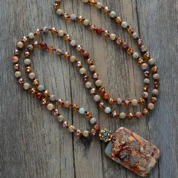 Bohemian Euro Stone Necklace