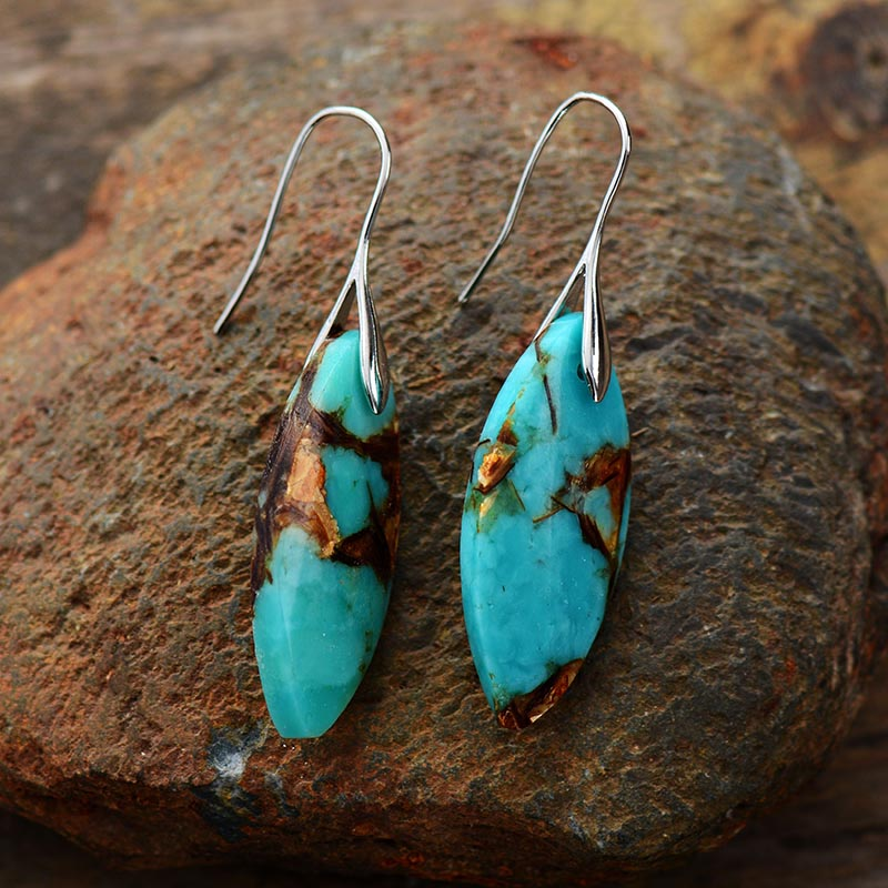 Regal Jasper Dangle Earrings