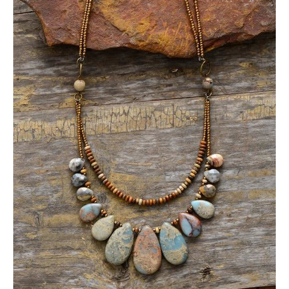 Native Teardrop Choker Necklace