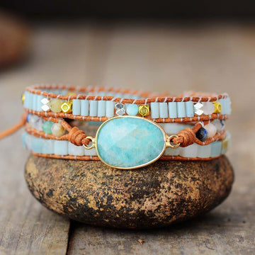 Amazonite Angelical Wrap Bracelet