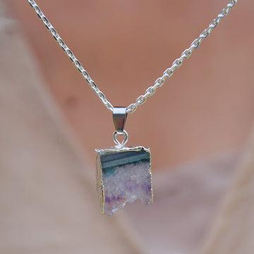 Natural Amethyst Stone Necklace