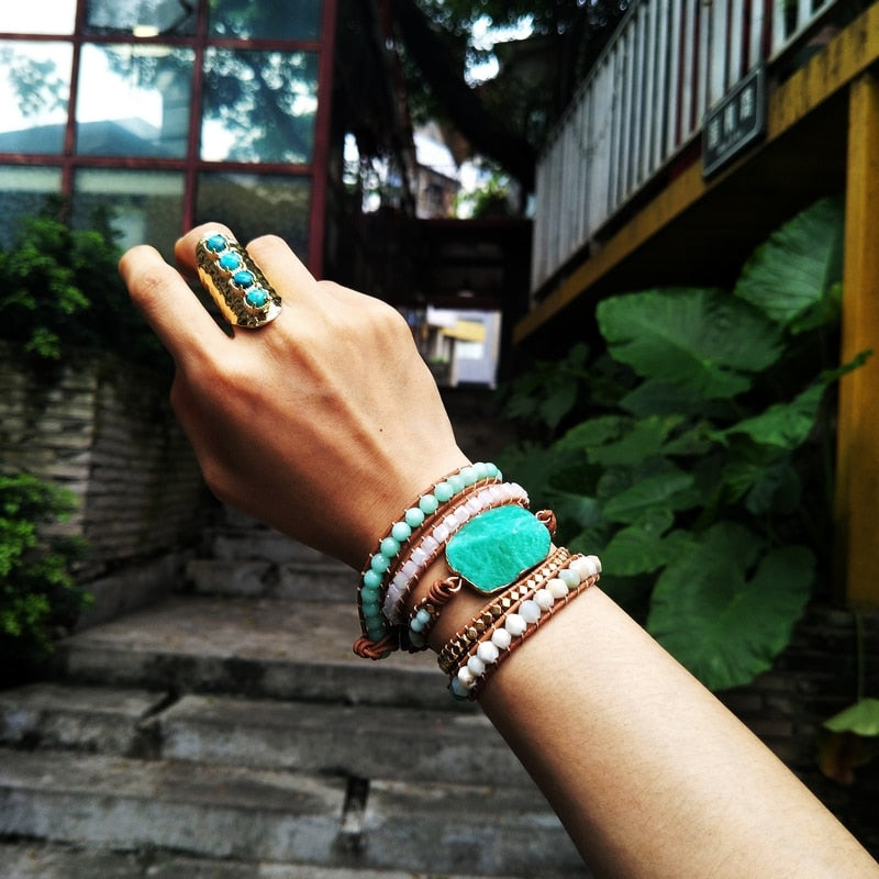 Amazonite Delight Wrap Bracelet