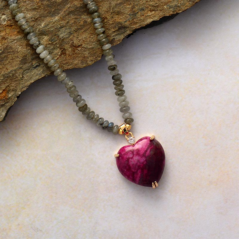 Healing Heart Beaded Necklace