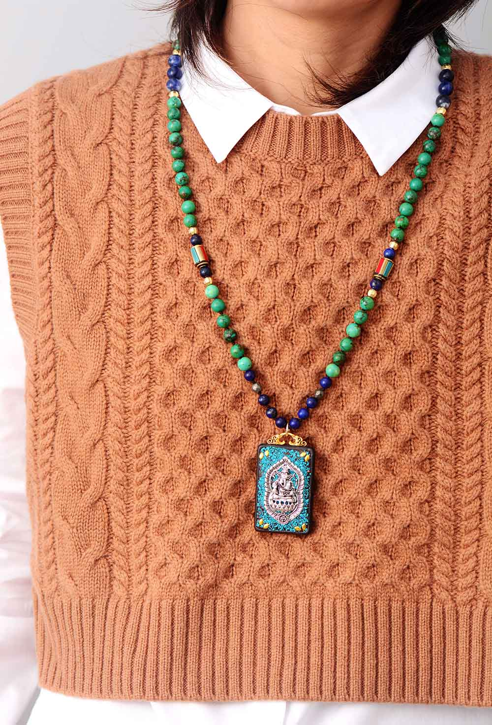 Tibetan Elephant Pendant Necklace