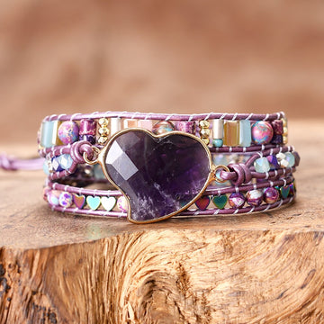 Amethyst Love Protection Wrap Bracelet