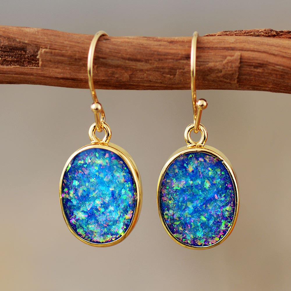 Charming Opal Dangle Earrings