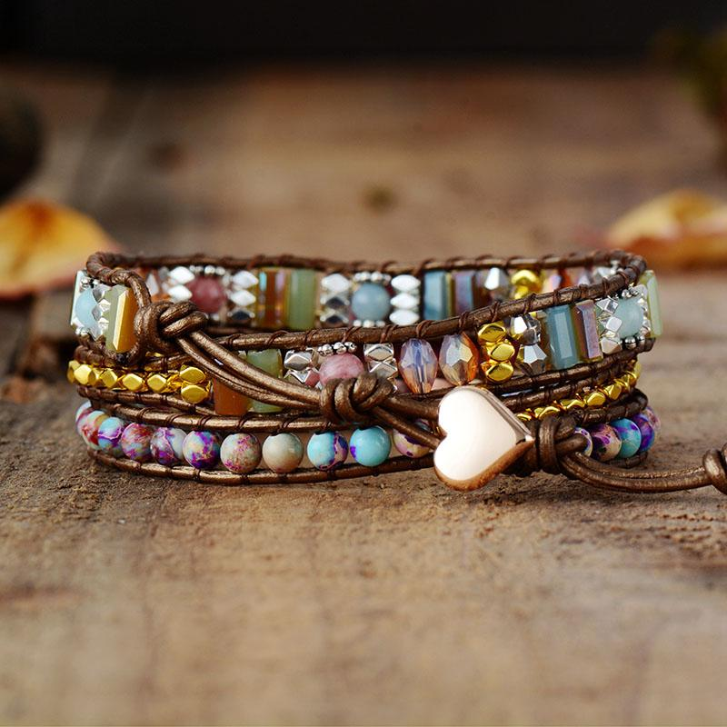 Imperial Heart Protection Wrap Bracelet