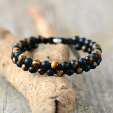 Men's Onyx Tiger Eye Bracelet