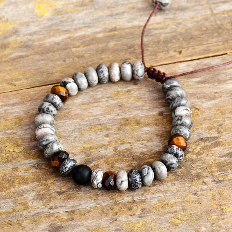 Men's Jasper & Tiger Eye Bracelet