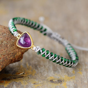Amethyst Mini Gemstone Bracelet
