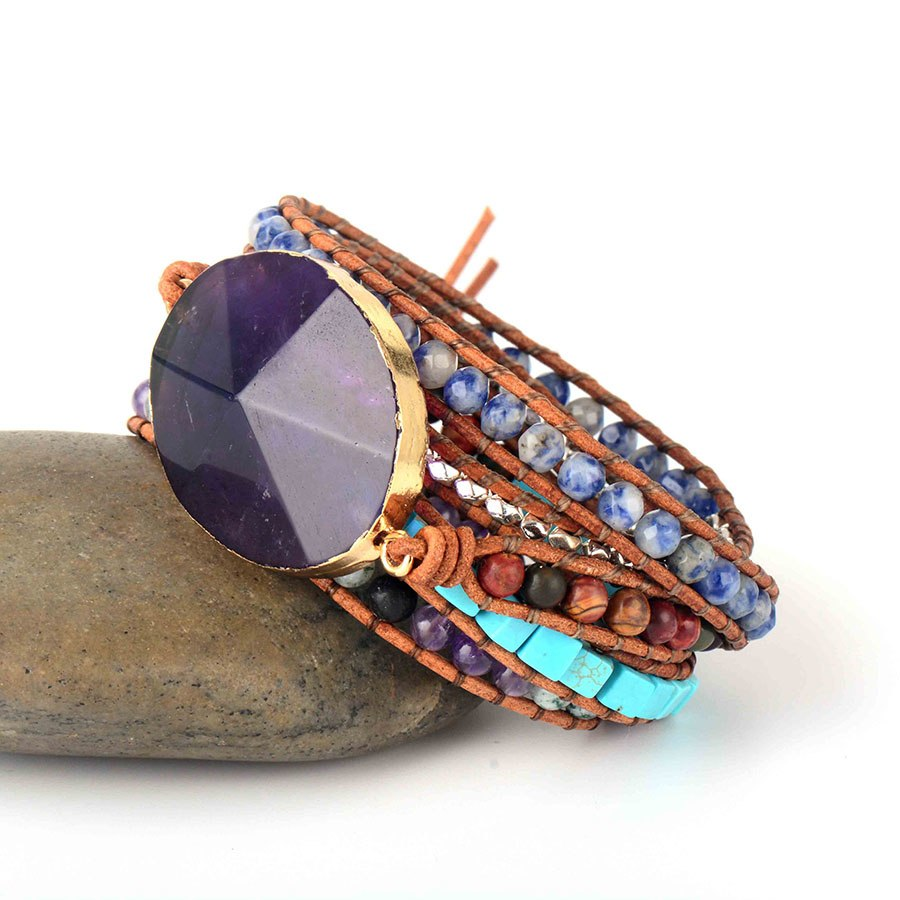 Amethyst Dream Wrap Bracelet