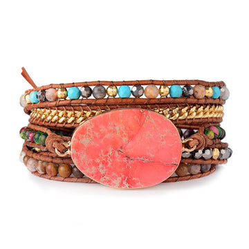 Dreamy Red Sea Wrap Bracelet