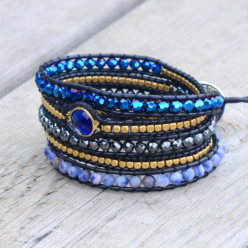 Peaceful Dream Crystal Wrap Bracelet