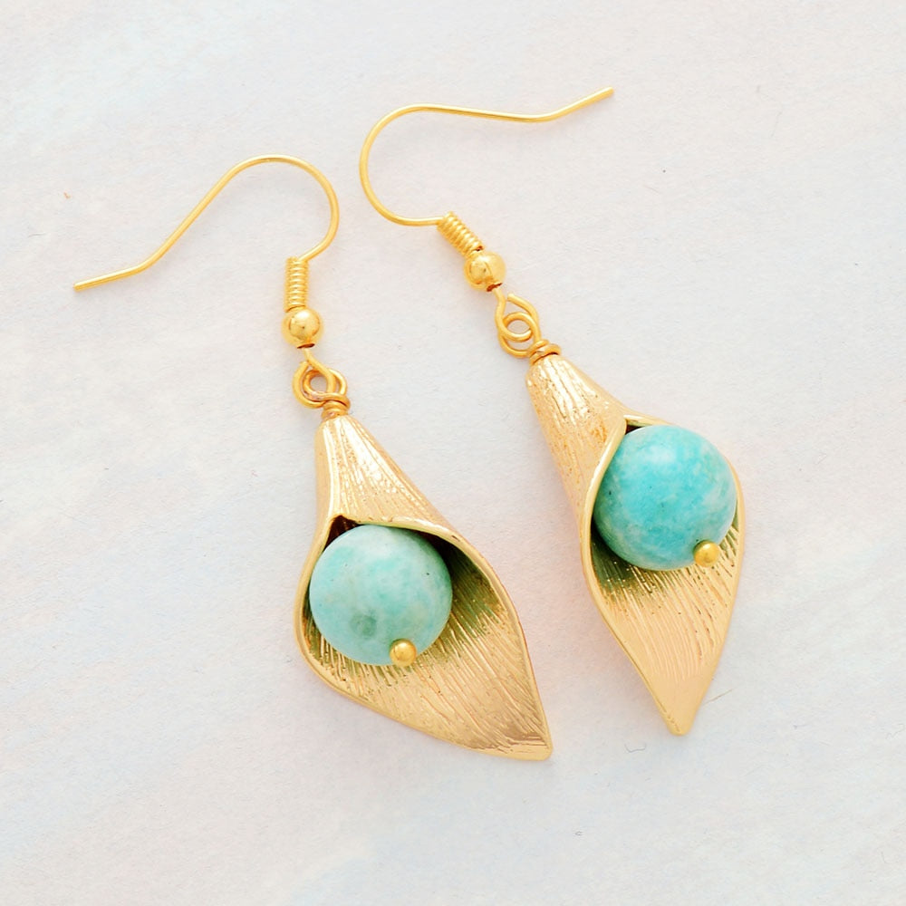 Amazonite Protection Earrings
