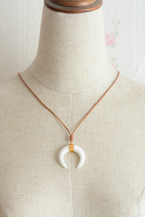 Magic Half Moon Shell Necklace