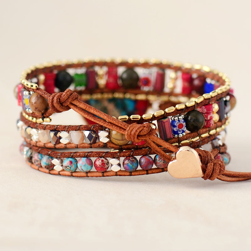 Vibrant Heart Protection Wrap Bracelet