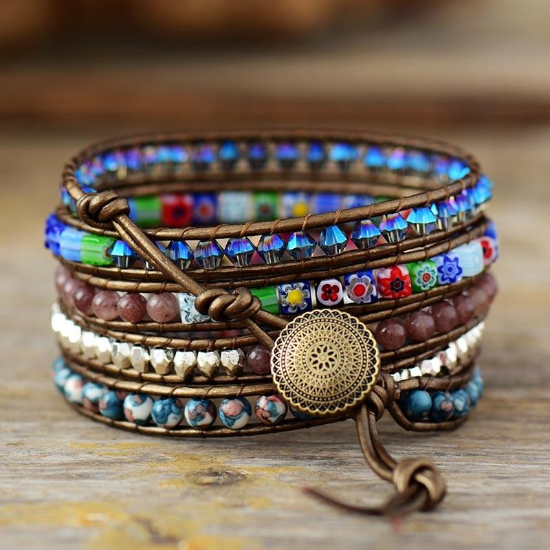 Imperial Flower Protection Wrap Bracelet