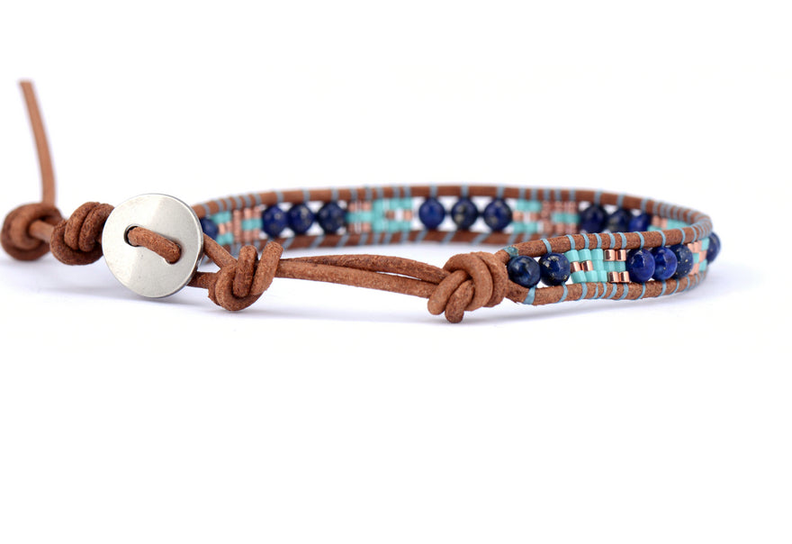 Ocean Vibes Leather Bracelet