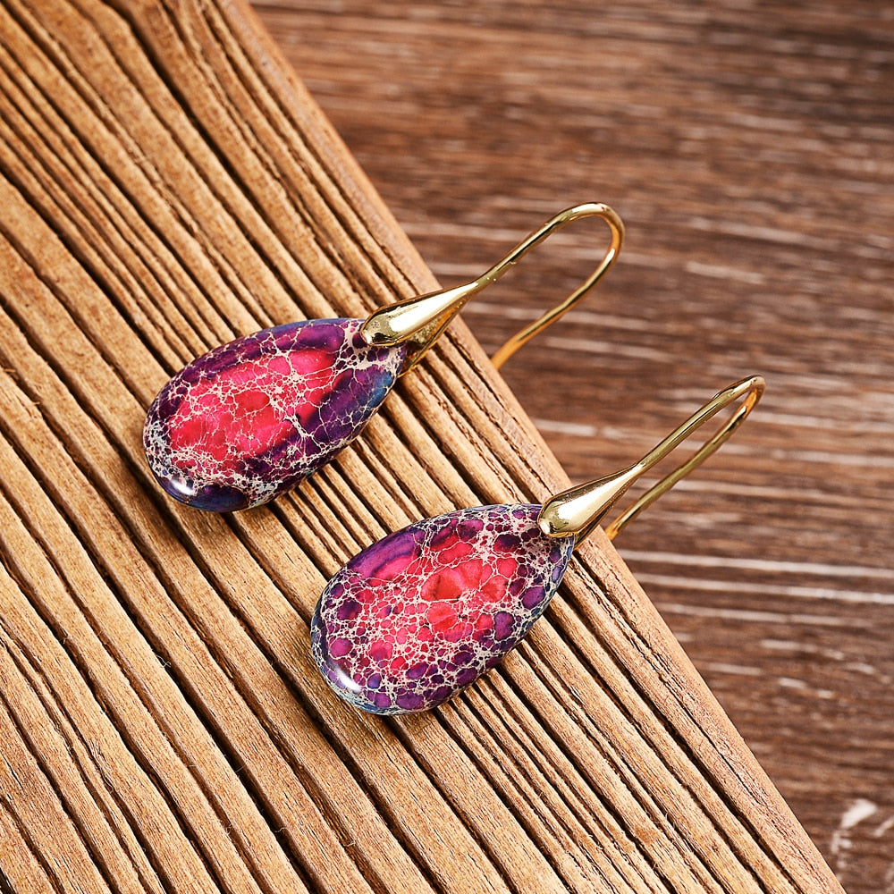 Jasper Energy Teardrop Earrings