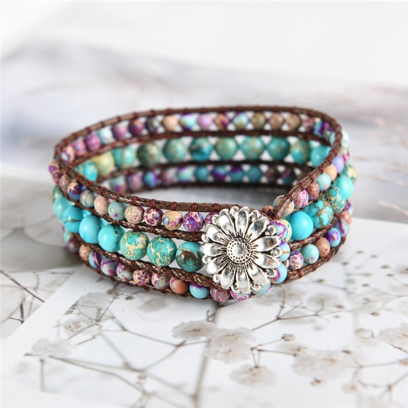 Colorful World Wrap Bracelet