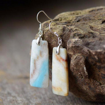 Amazonite Bohemian Earrings