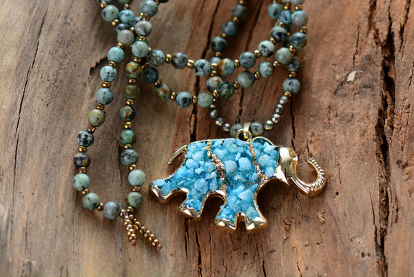 Elephant Agate Necklace