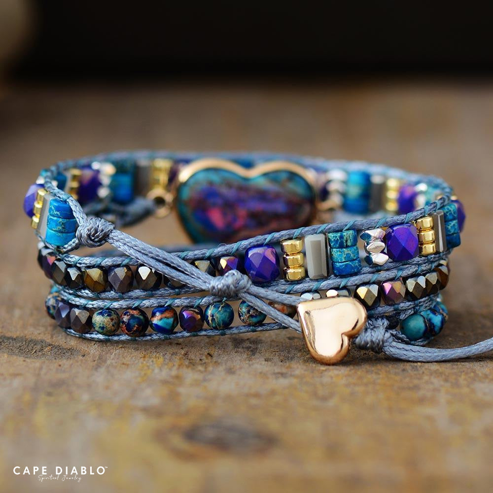 Blue Love Protection Wrap Bracelet