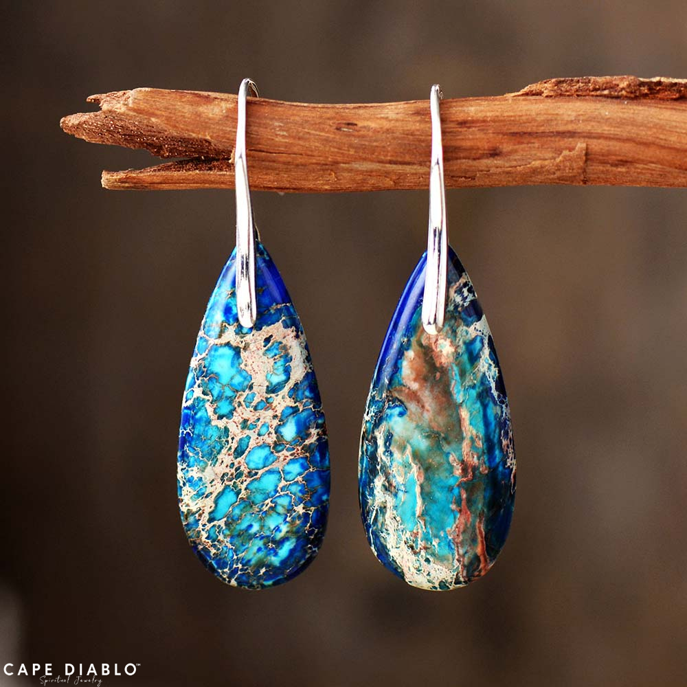 Intense Ocean Energy Earrings