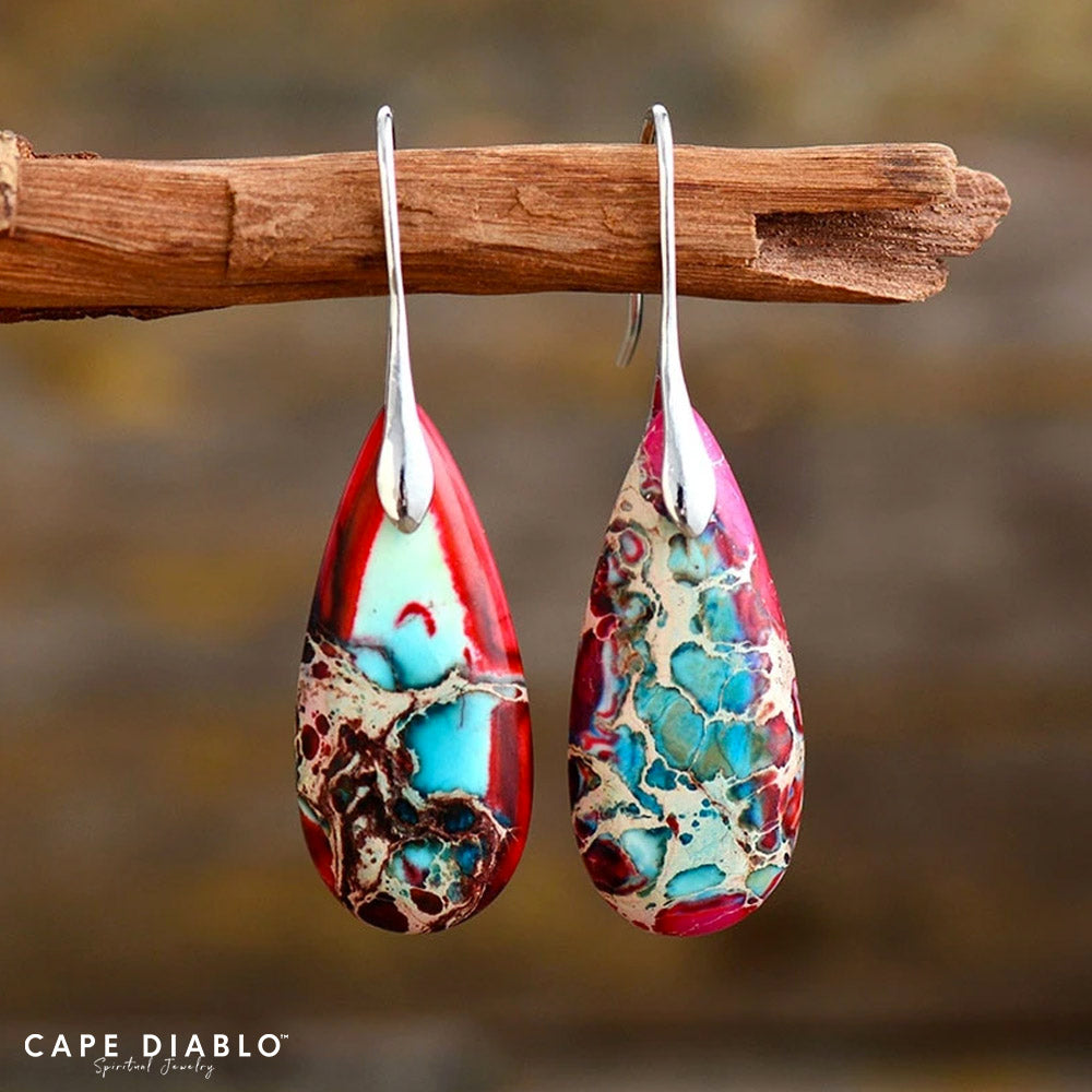 Imperial Jasper Teardrop Earrings