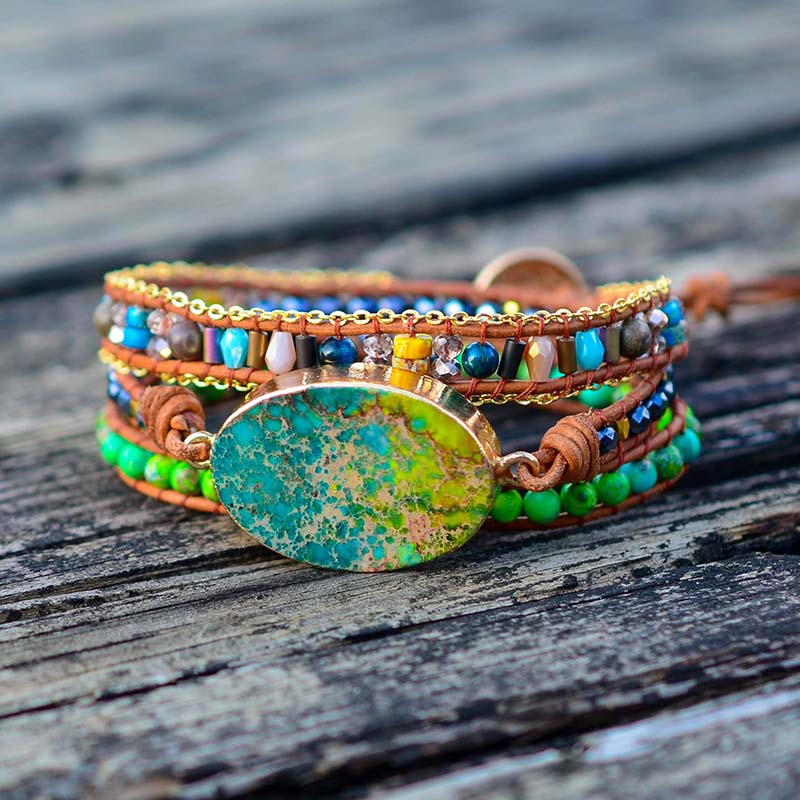 Jungle Spirit Healing Wrap Bracelet