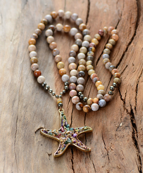 Magical Starfish Pendant Necklace