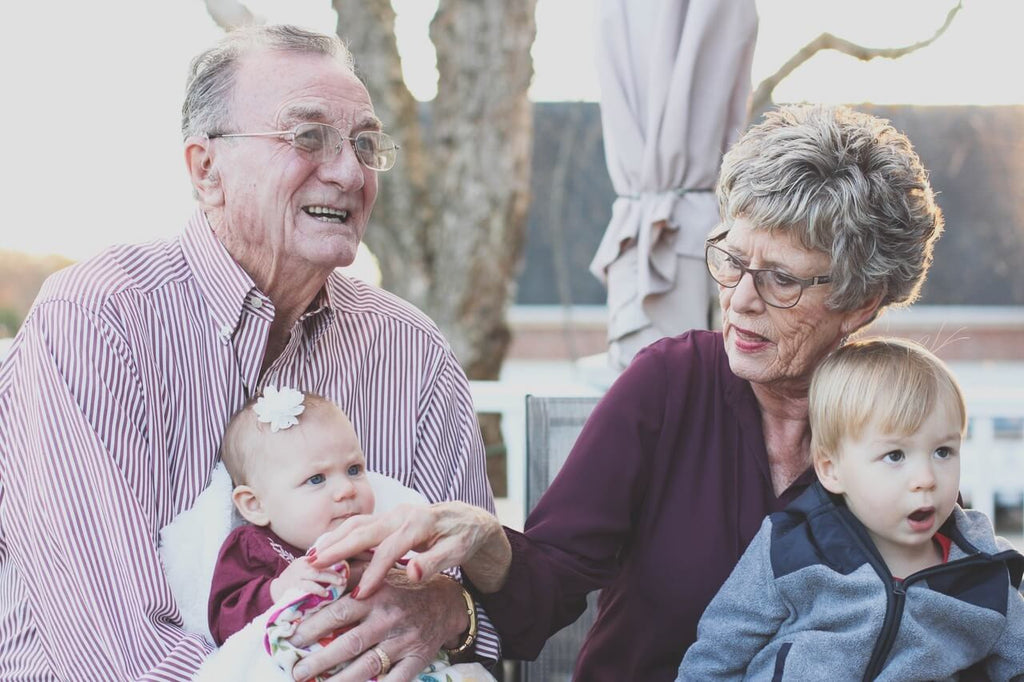 seniors family grand kids cremation funeral