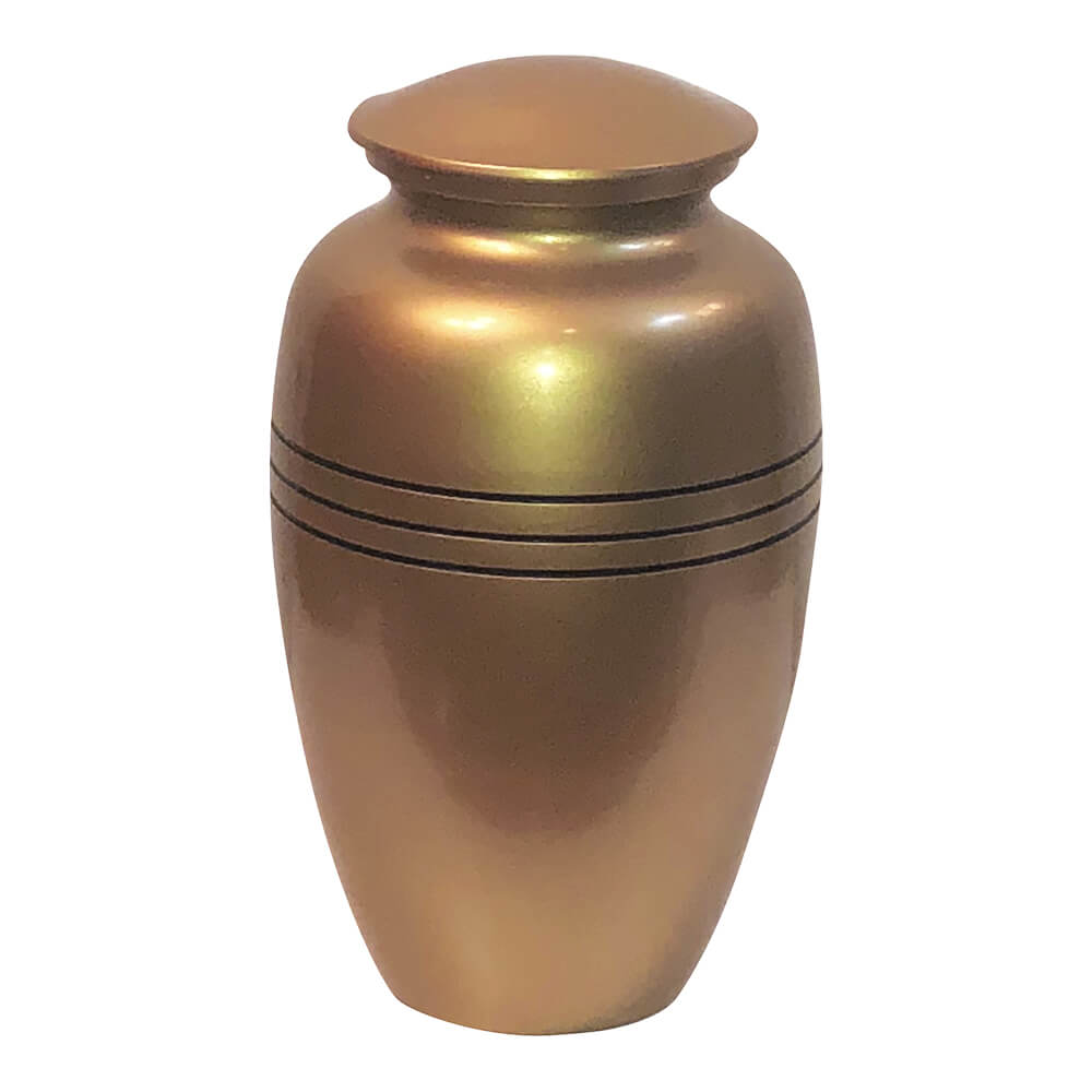 gold bronze bands cremation urn