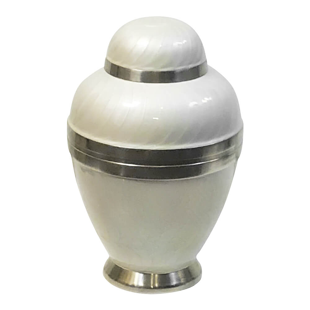 Pearl white dove cremation urn