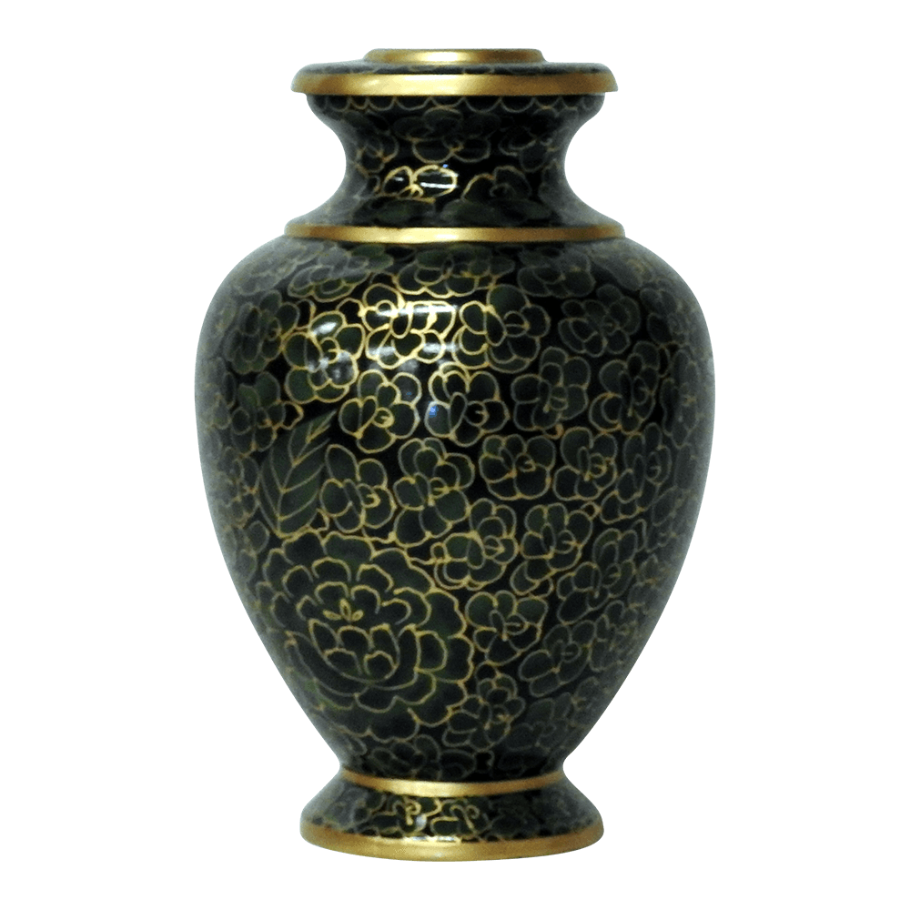 Forest green brass cremation urn safe passage urns forest green brass cremation urn solutioingenieria Image collections