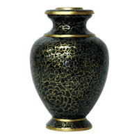 Safe Passage Urns Forest green brass cremation urn for ashes