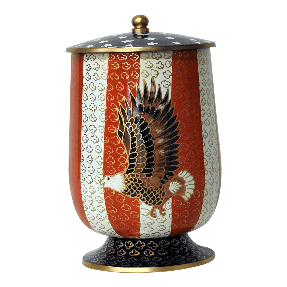 Safe Passage Urns American eagle patriotic military cremation urn for ashes