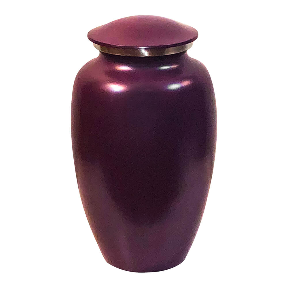 Violet purple cremation urn