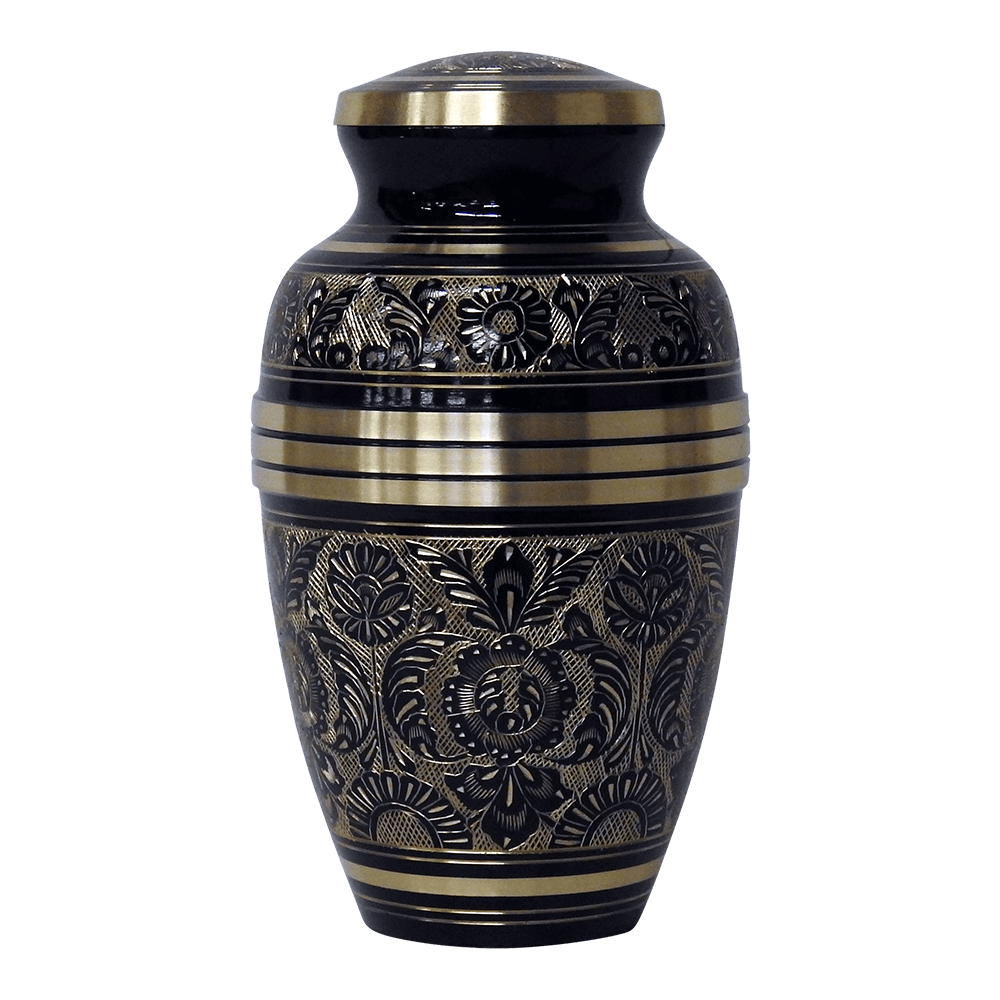 Onyx black brass cremation urn safe passage urns onyx black brass cremation urn solutioingenieria Image collections