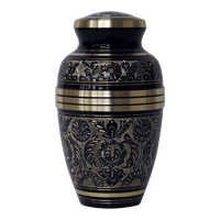 Safe Passage Urns onyx black brass cremation urn for ashes