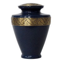 Safe Passage Urns Deep sea blue brass cremation urn for ashes