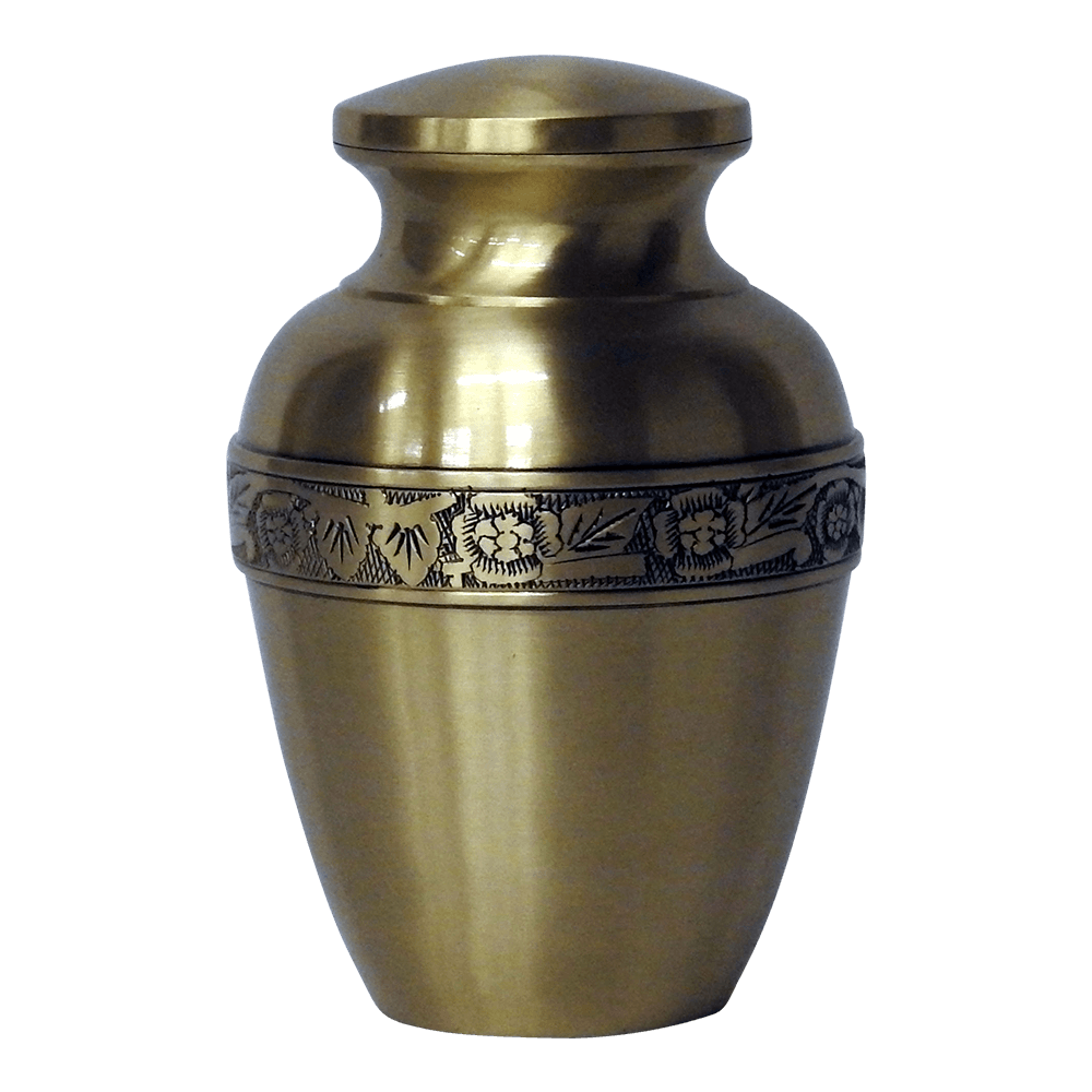 Safe Passage Urns Small golden gold brass cremation urn child ashes