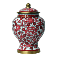 Safe Passage Urns pink lily cloisonne cremation urn for ashes