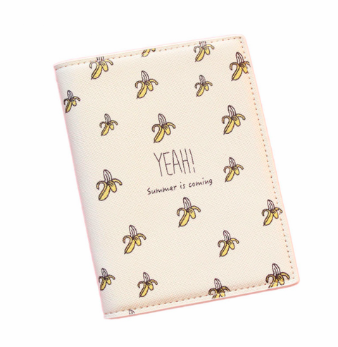 YEAH SUMMER IS COMING BANANA STYLE PASSPORT HOLDER - Pamperpal