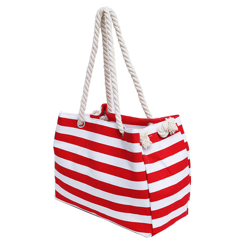 STRIPE ROPE BEACH BAG - Pamperpal