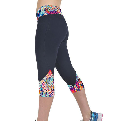 3/4- Length Printed Yoga Leggings