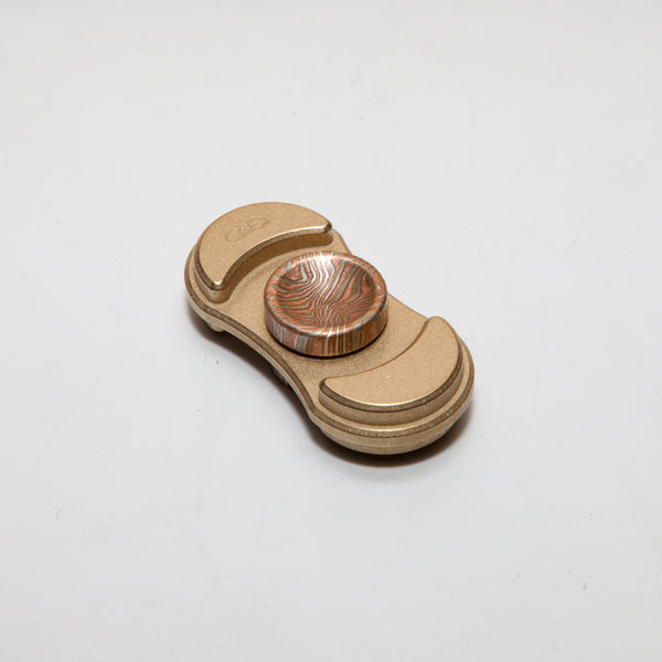 Torqbar® Luna V2 C360 Brass with Mokume Deep Dish Buttons - Original Hybrid Bearing