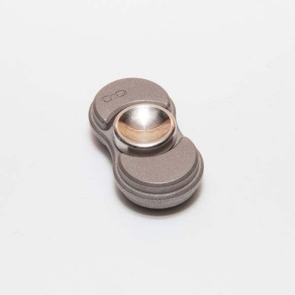 Torqbar® Mini Titanium Blasted / Tumbled with Titanium Machine Finish Buttons